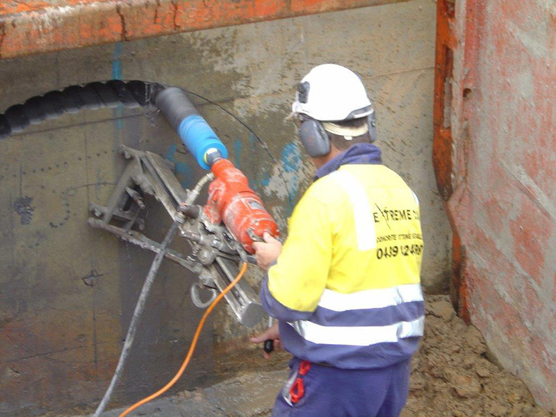 Cutting Holes In Concrete : Stitch drilling extreme cut services